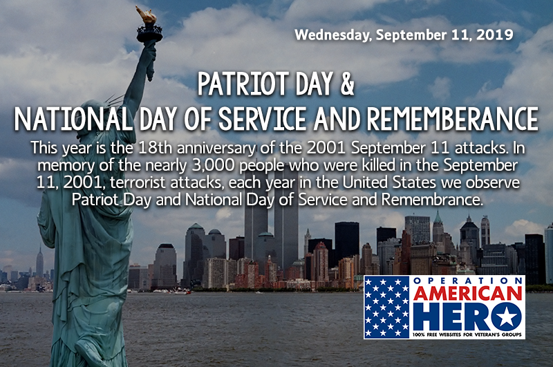 Patriots Day, National Day of Service and Remembrance, Operation American Hero