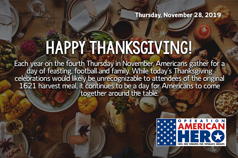 Happy thanksgiving, Operation American Hero
