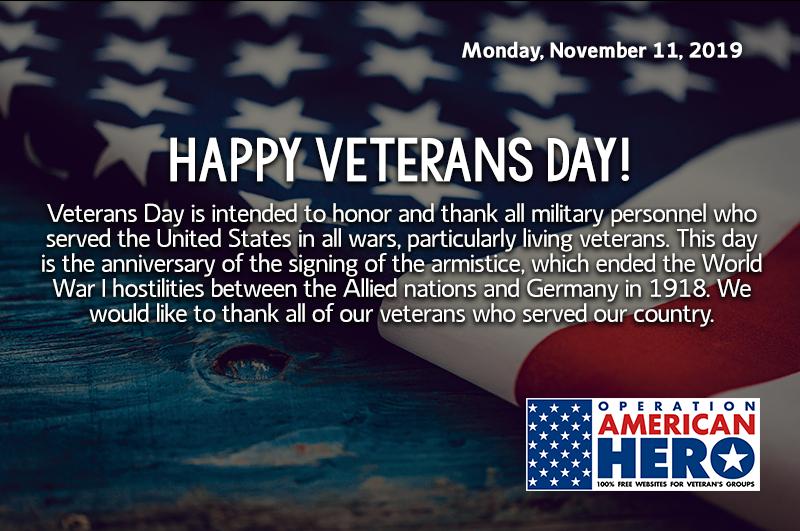 Veterans Day, Operation American Hero